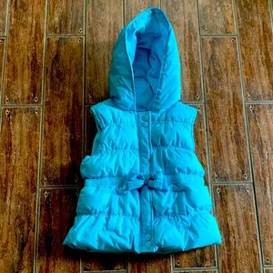 Kids Gymboree Aqua Puffy Vest